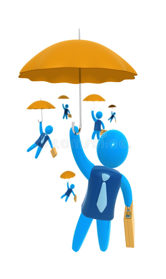 Negócio seguro ilustração royalty free