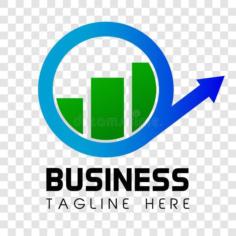 Negócio Shinning simples da seta e da barra de Cirle ou identidade corporativa orientada investimento no fundo transparente do ef ilustração royalty free