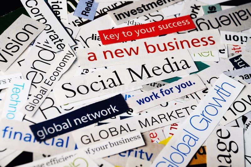 Negócio social dos meios fotografia de stock