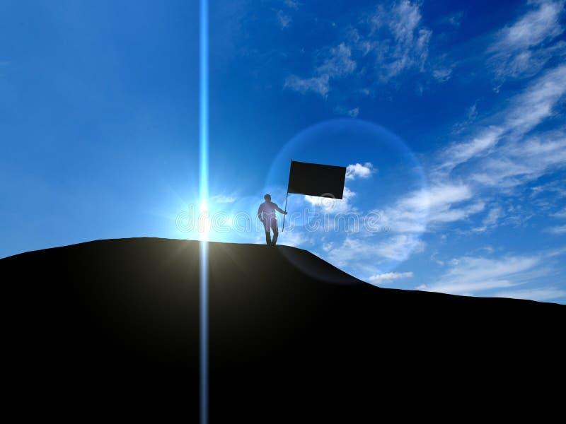 negócio, sucesso, liderança, realização e p da ilustração 3d ilustração stock