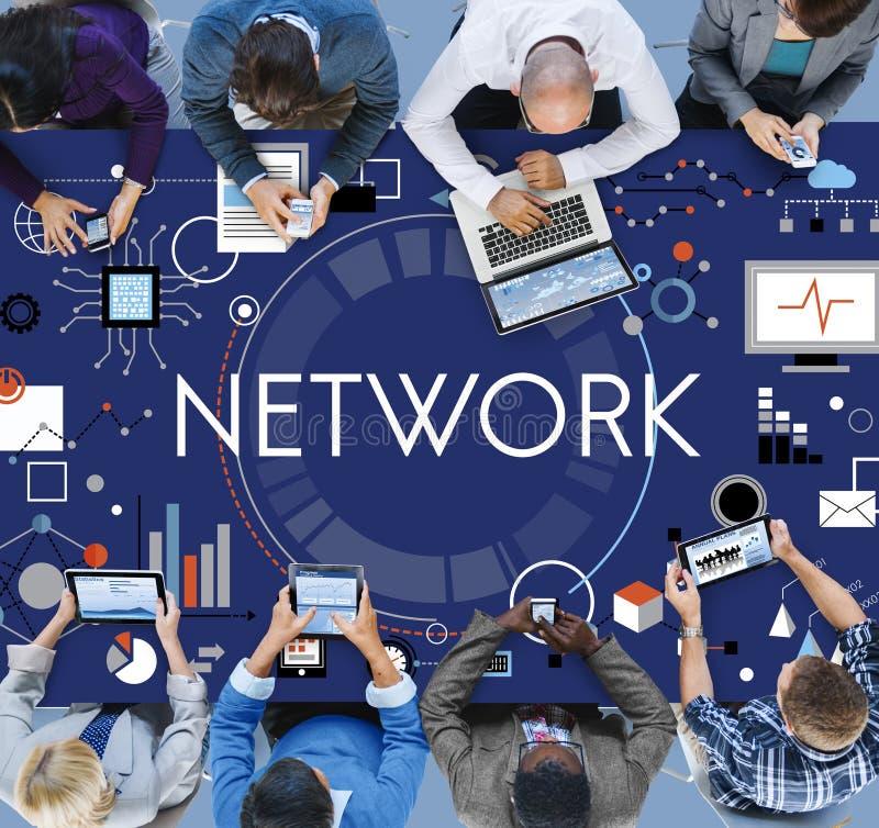 Negócio Team Connection Technology Networking Concept imagens de stock royalty free