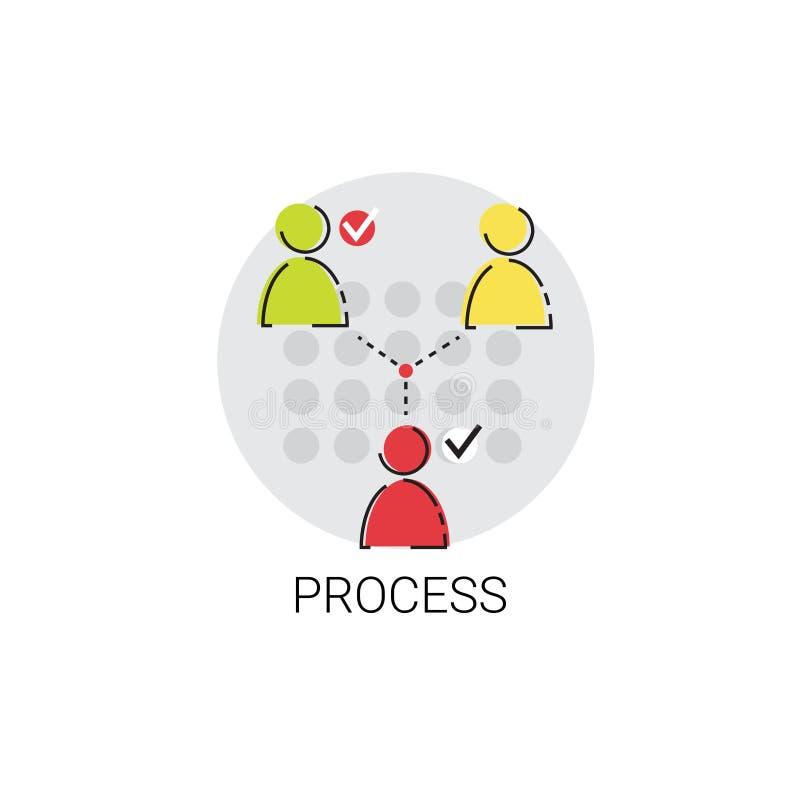 Negócio Team Meeting Brainstorm Process Icon ilustração do vetor