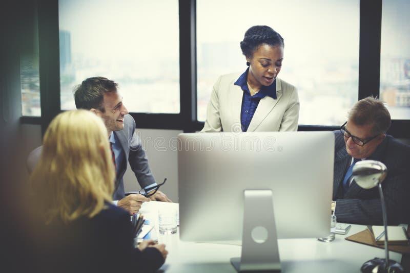 Negócio Team Meeting Discussion Connection Concept imagem de stock royalty free