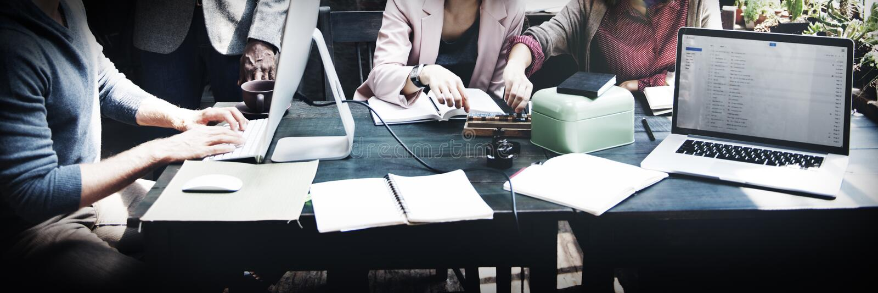 Negócio Team Meeting Discussion Ideas Concept foto de stock royalty free