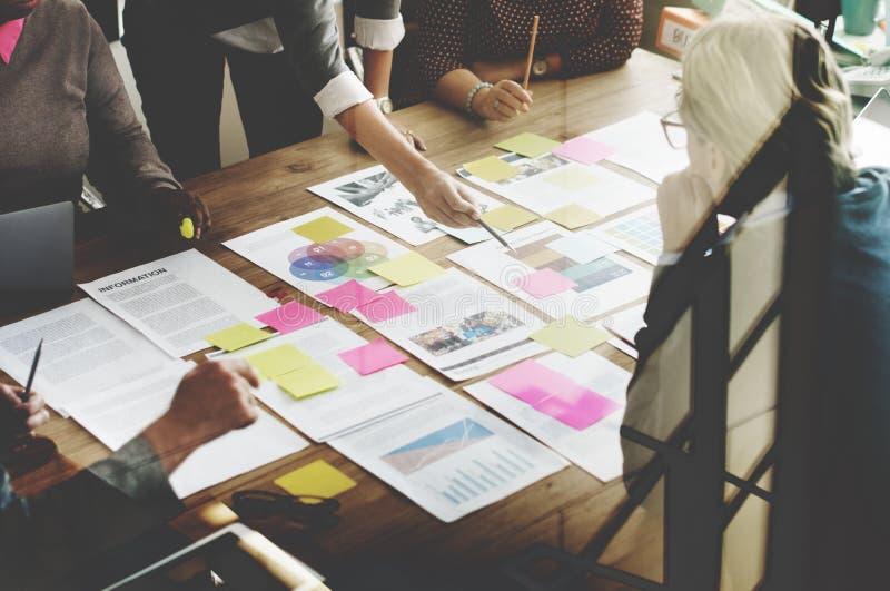 Negócio Team Meeting Project Planning Concept fotografia de stock royalty free