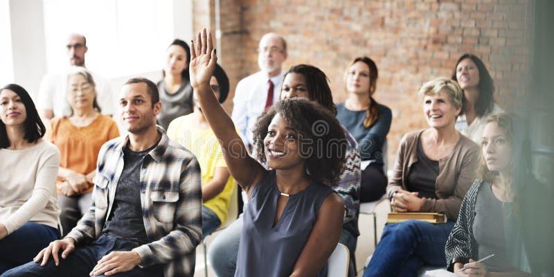 Negócio Team Meeting Seminar Training Concept foto de stock