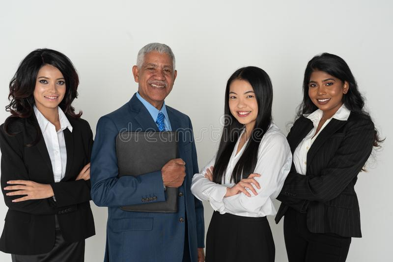 Negócio Team Of Minority Workers fotos de stock