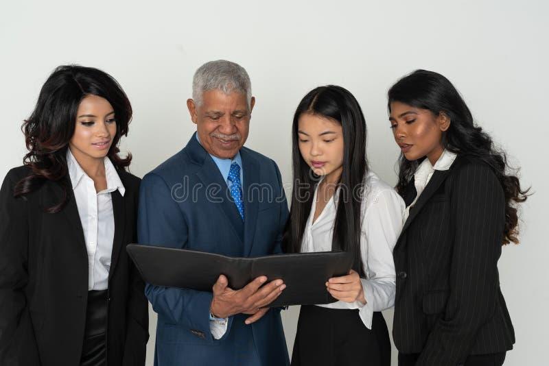 Negócio Team Of Minority Workers imagem de stock