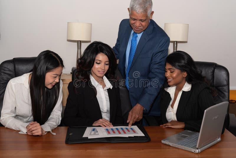 Negócio Team Of Minority Workers imagens de stock