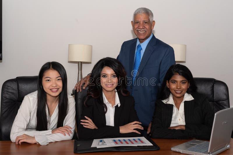 Negócio Team Of Minority Workers foto de stock
