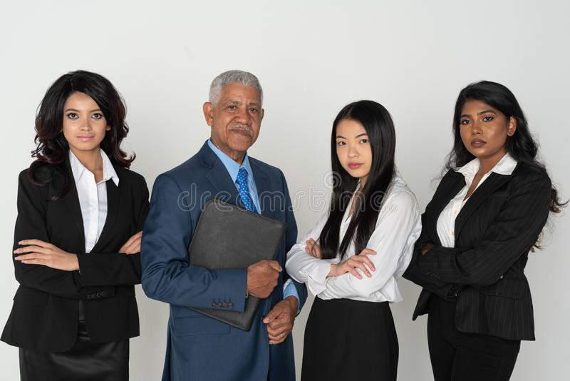 Negócio Team Of Minority Workers foto de stock royalty free