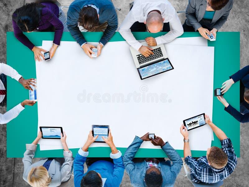 Negócio Team Networking Connection Communication Concept imagens de stock royalty free