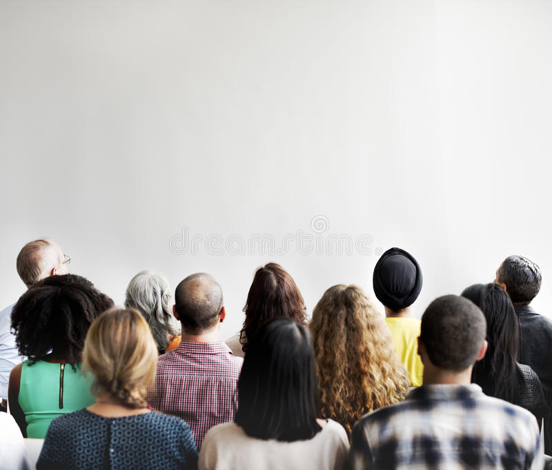 Negócio Team Seminar Conference Audience Concept imagem de stock royalty free