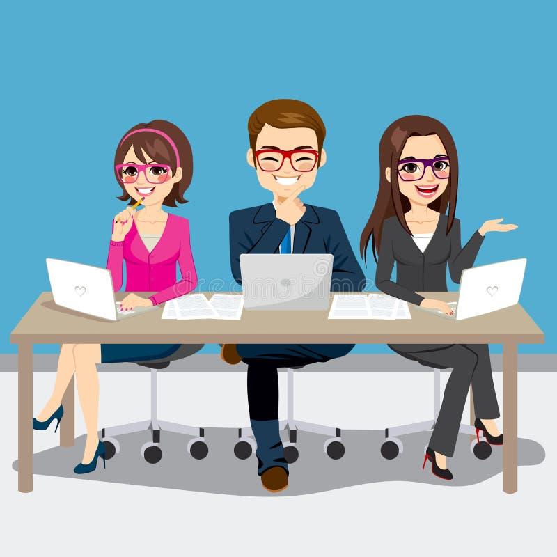 Negócio Team Sitting ilustração stock