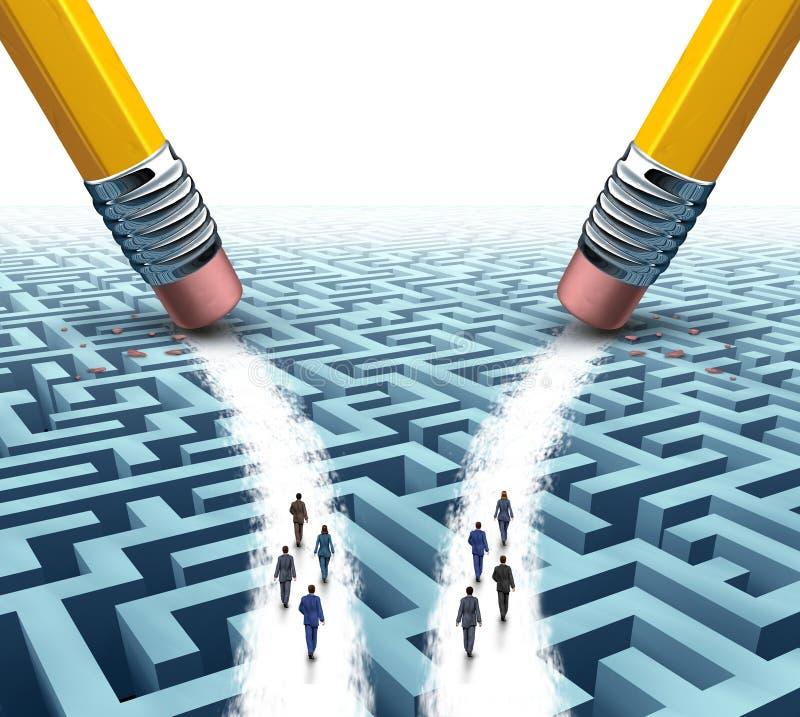 Negócio Team Solution Choice ilustração stock