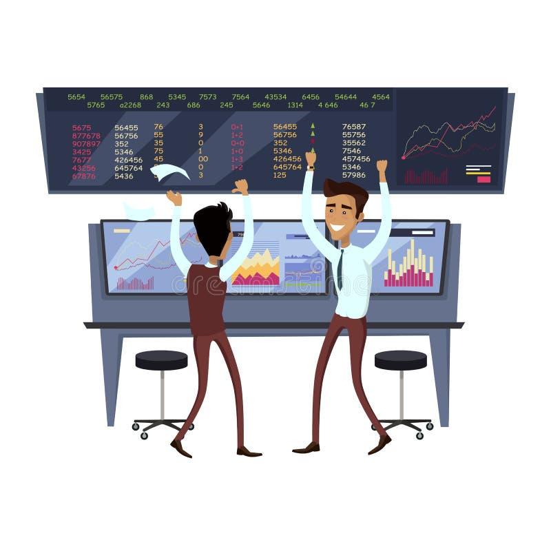 Negócio Team Work Success Concept Vetora ilustração stock