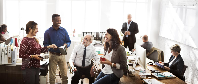 Negócio Team Working Office Worker Concept fotos de stock