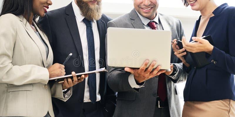 Negócio Team Working Research Planning Concept foto de stock