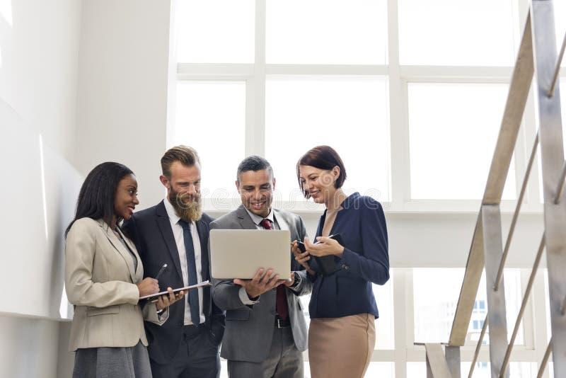 Negócio Team Working Research Planning Concept fotos de stock