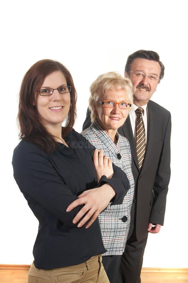 Negócio threesome imagem de stock