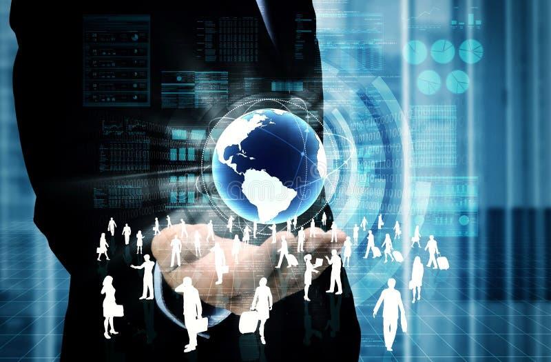 Negócio virtual do Internet fotografia de stock royalty free
