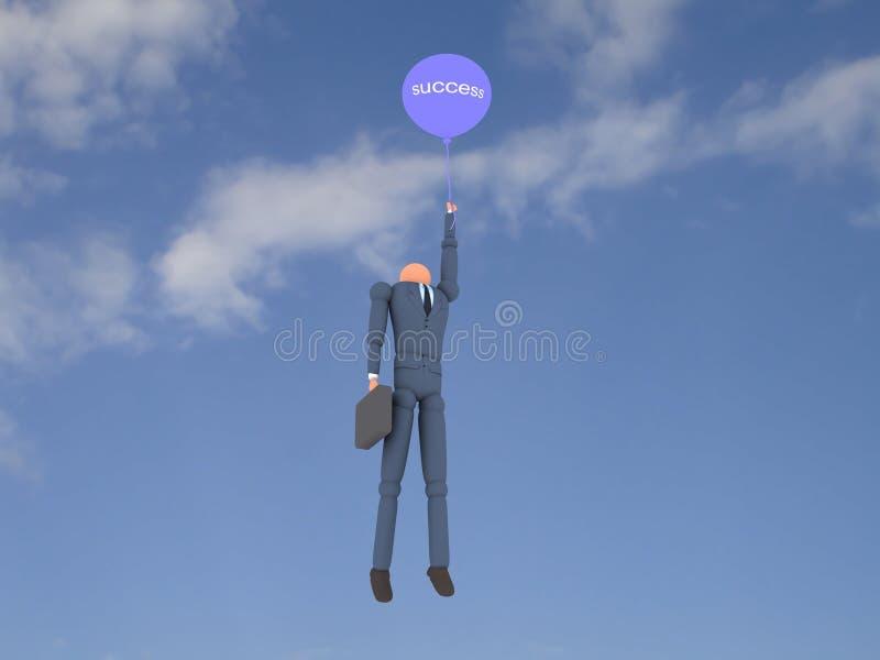 Negócio vol 3 do balão ilustração stock