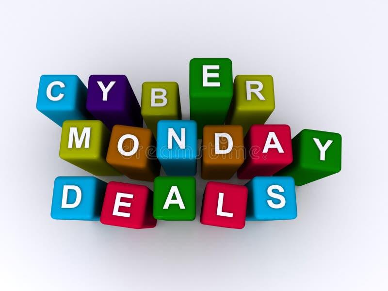 Negócios de segunda-feira do Cyber fotografia de stock