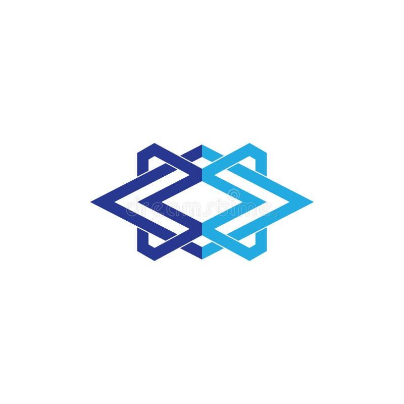 Neg?cio abstrato Logo Design ilustração do vetor
