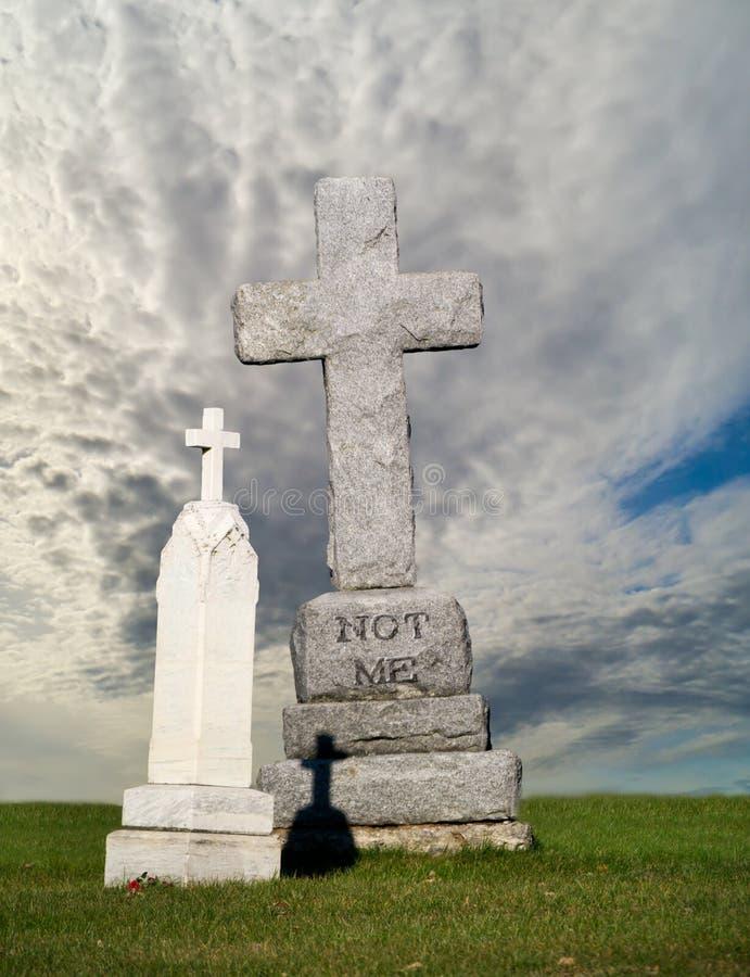 Negação, não mim sepultura, headstone imagens de stock royalty free