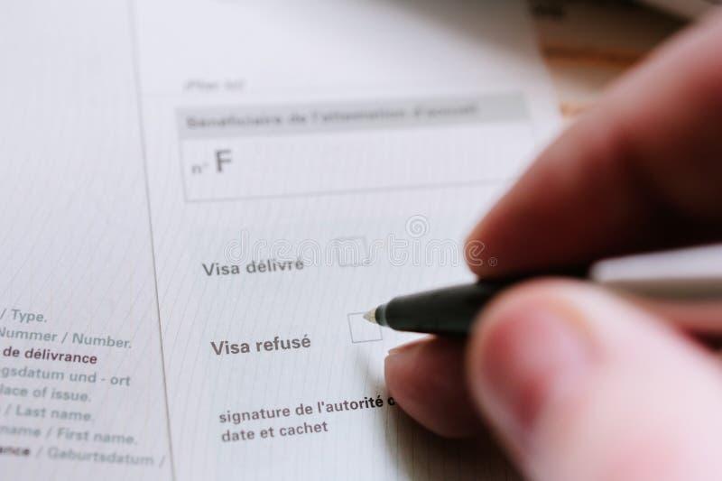 Negación de la visa foto de archivo libre de regalías