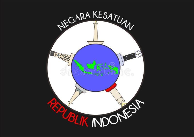 Negara Indonesia kesatuan imagen de archivo libre de regalías