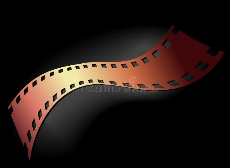 Negatieve 35 mmfilm royalty-vrije illustratie