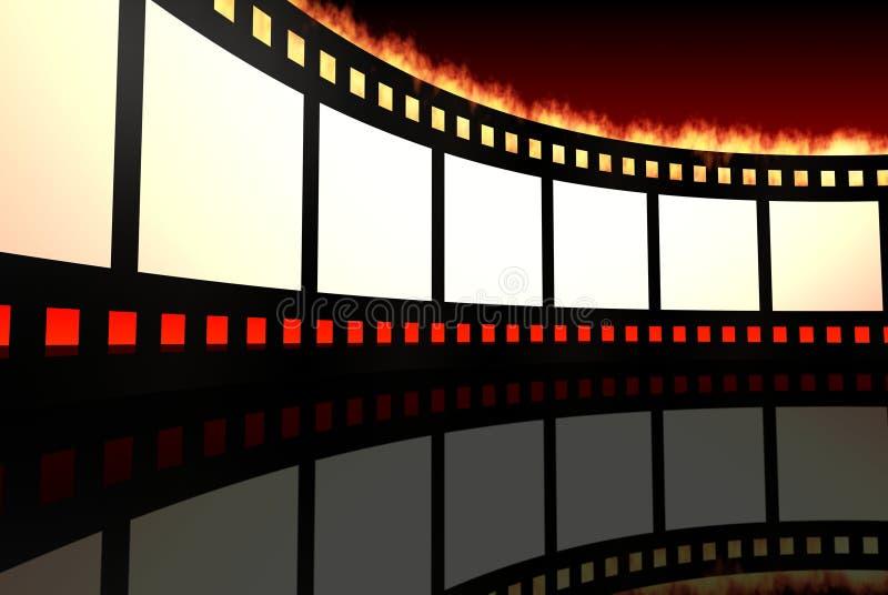 Negatieve film stock illustratie