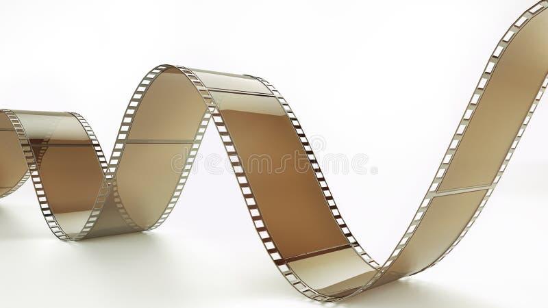Negatieve film - het 3D teruggeven royalty-vrije illustratie