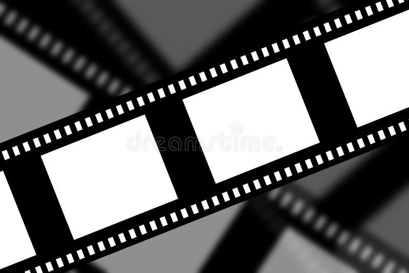 Negatieve filmstrook stock illustratie