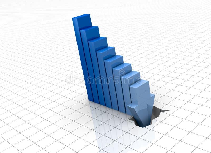 Negatieve grafiek vector illustratie