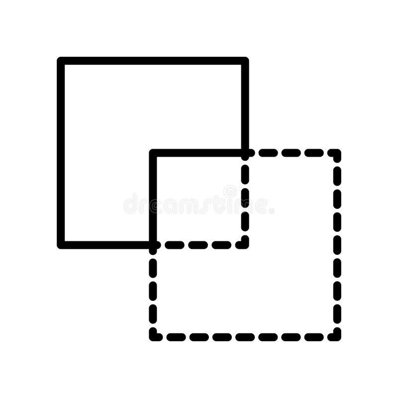 Negativ den främre symbolsvektorn som isoleras på vit bakgrund, negativ fron vektor illustrationer