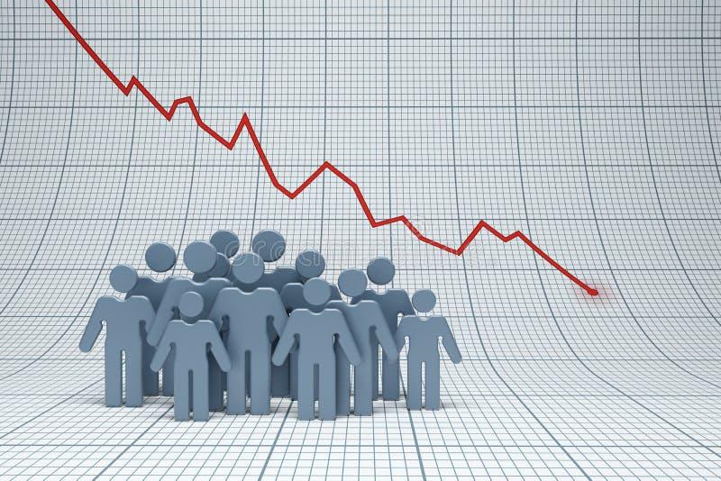 Negativ trend vektor illustrationer