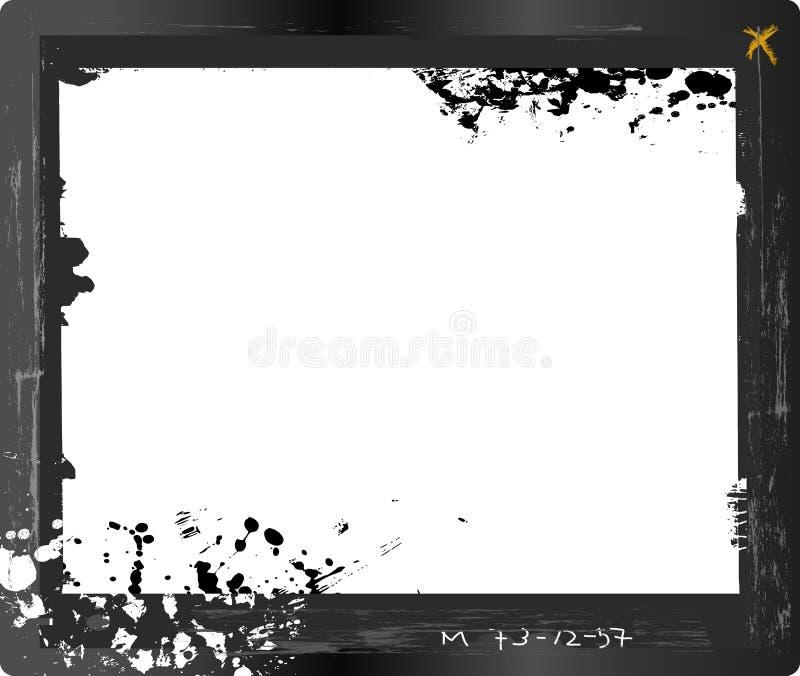 Negativa de la placa de cristal del formato grande, stock de ilustración