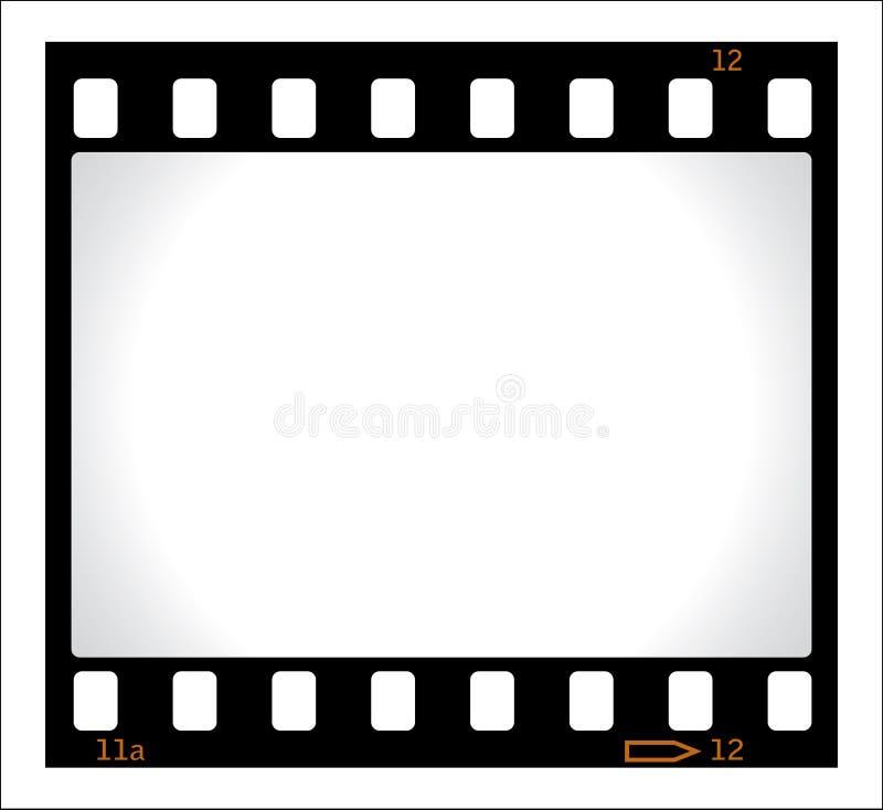 Negativa de película en blanco libre illustration