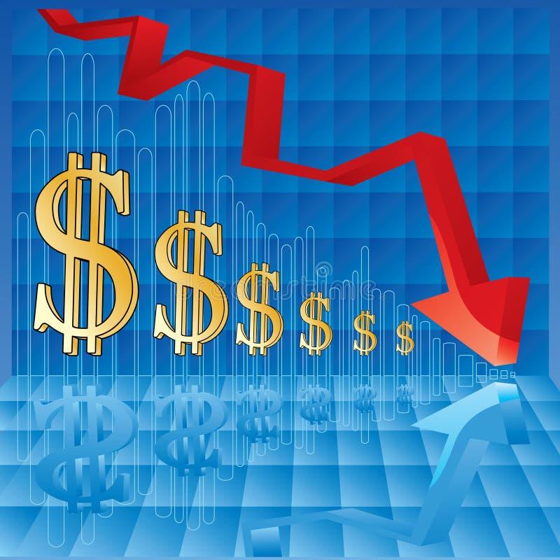 negative för affärsgraf royaltyfri illustrationer