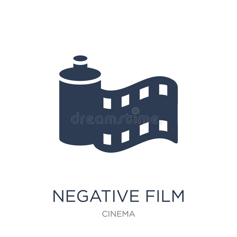 Negative film icon. Trendy flat vector Negative film icon on white background from Cinema collection royalty free illustration