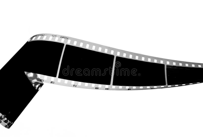 Negative film strip. In black and white royalty free stock images