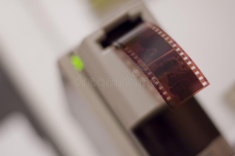 Negative Filmeingabeeinheit lizenzfreie stockbilder