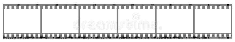 Negative filmstrip frames royalty free illustration