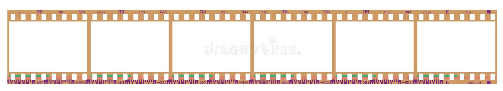 Download Negative filmstrip frames stock vector. Image of clip - 14033784