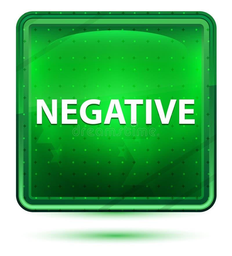 Negative Neon Light Green Square Button vector illustration
