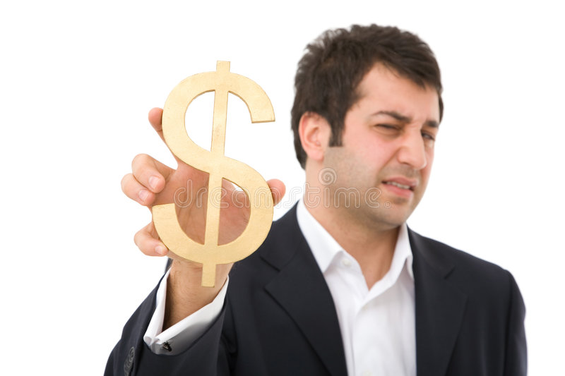 Negative News On Dollar Royalty Free Stock Images