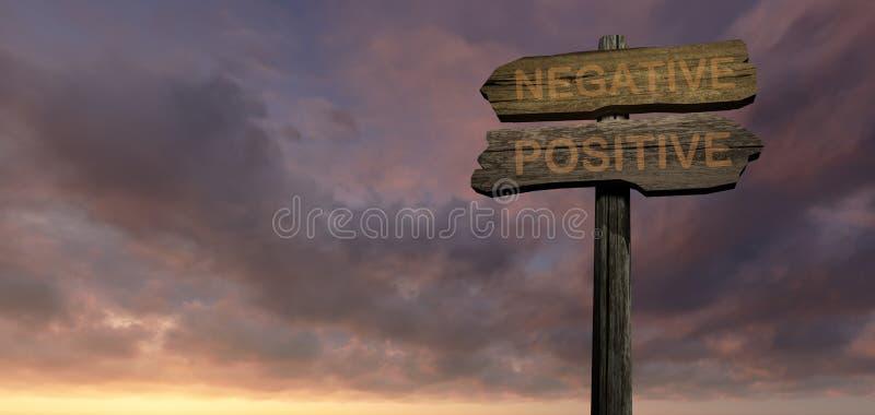 NEGATIVE - POSITIVE stock image