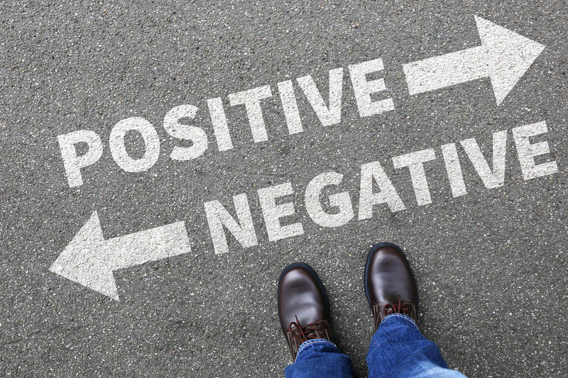 Negative positive thinking good bad thoughts attitude business c royalty free stock image